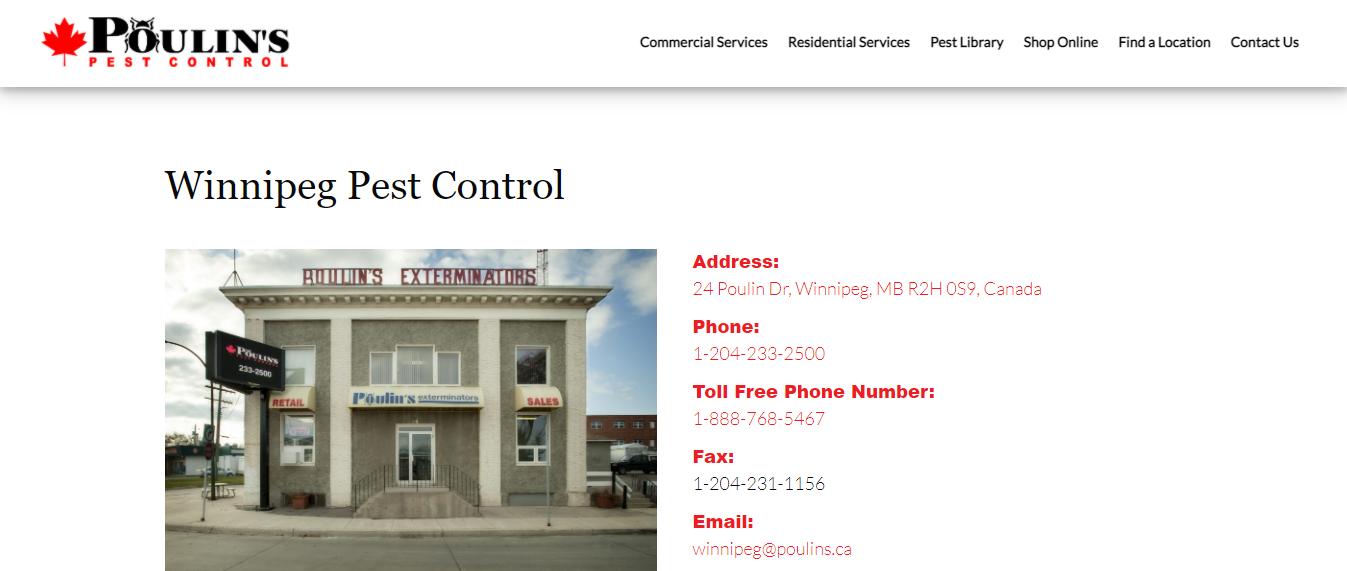 Poulin's Pest Control Winnipeg