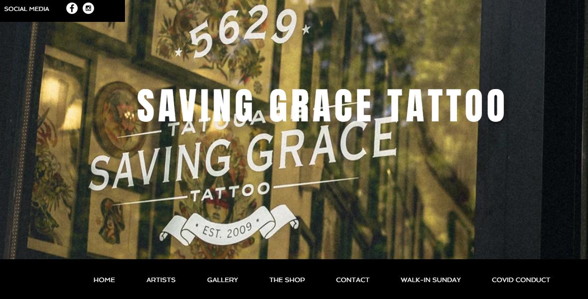 Tatouage Saving Grace