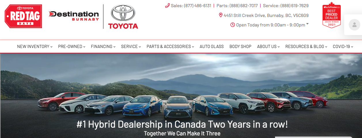 top toyota dealers in vancouver