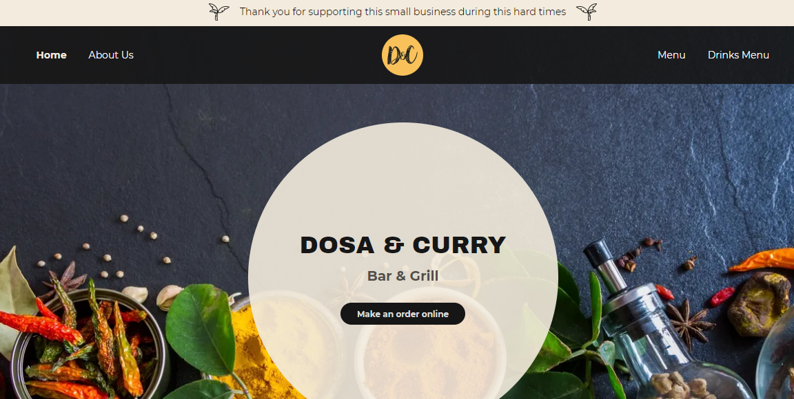 Dosa & Curry