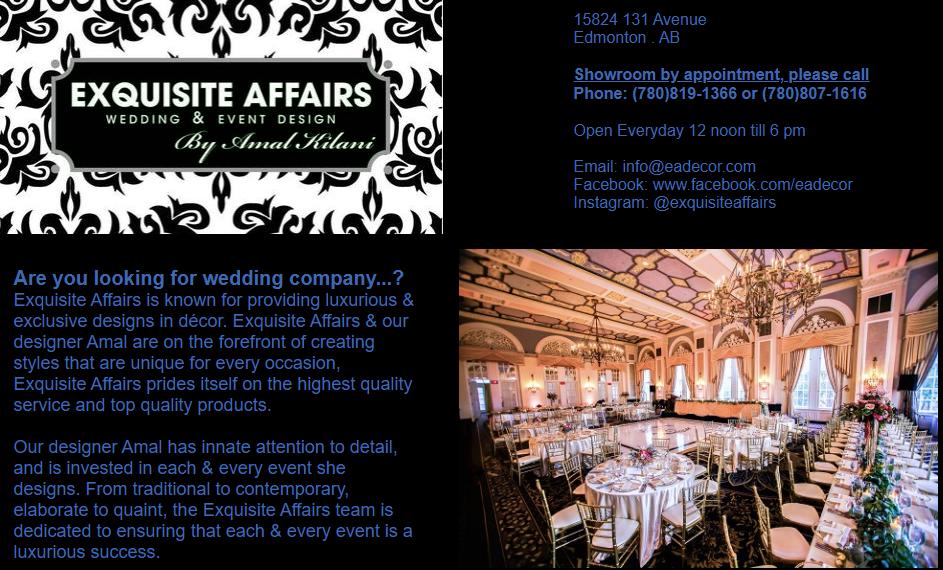 Exquisite Affairs Wedding & Event