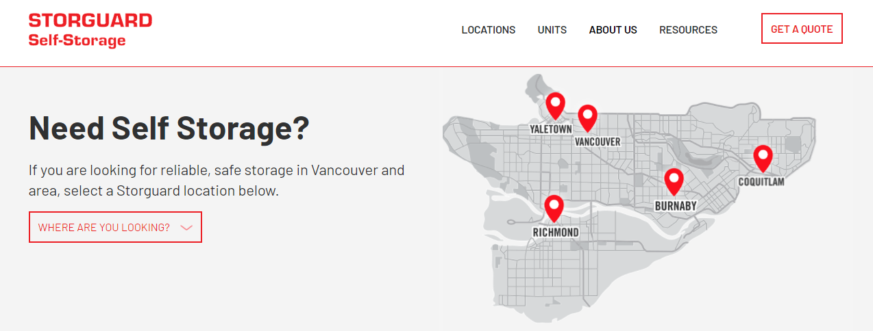 Storguard Self-Storage Vancouver