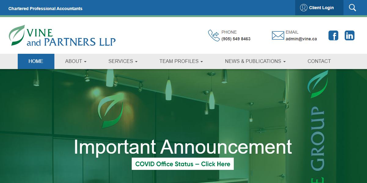 Vine and Partners LLP Chartered Professional Accountants