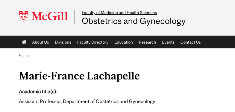 gynecologists in montreal