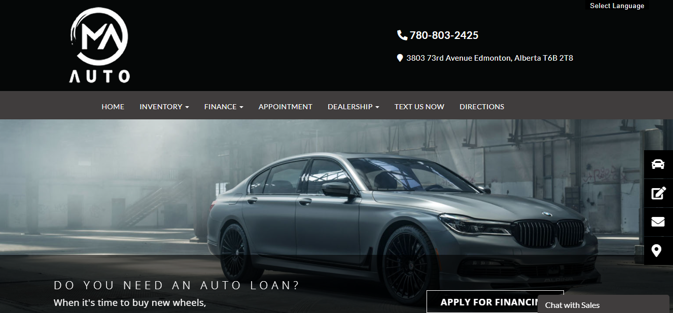 M & A Used Car & Truck Sales Ltd