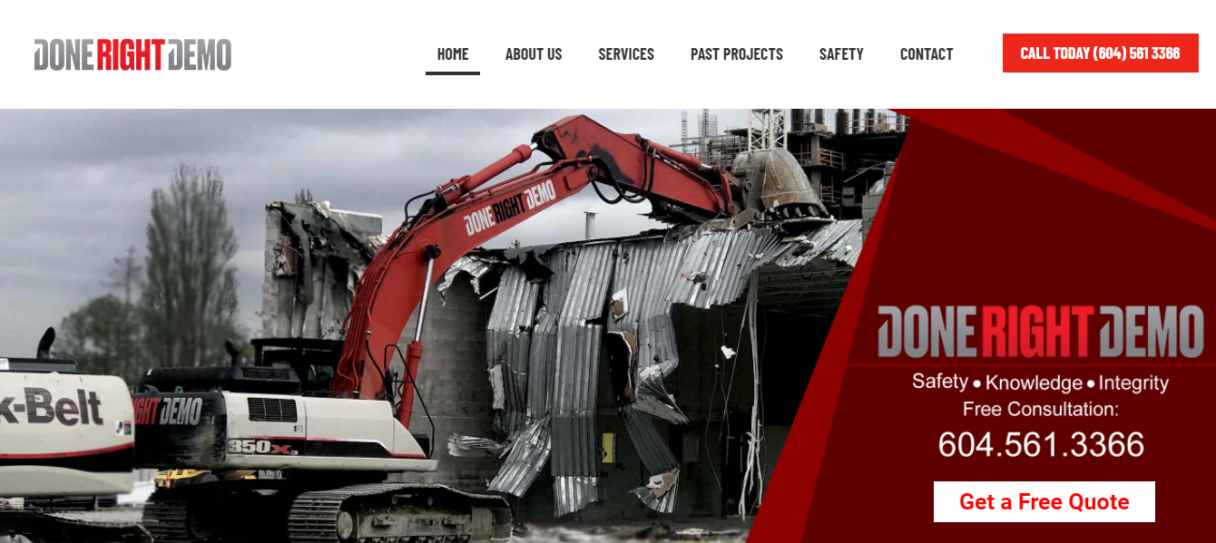 Done Right Demolition & Excavating Contractor