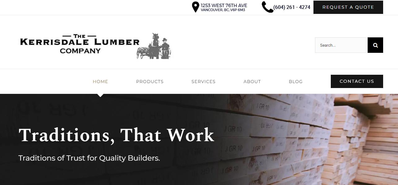 Kerrisdale Lumber Home