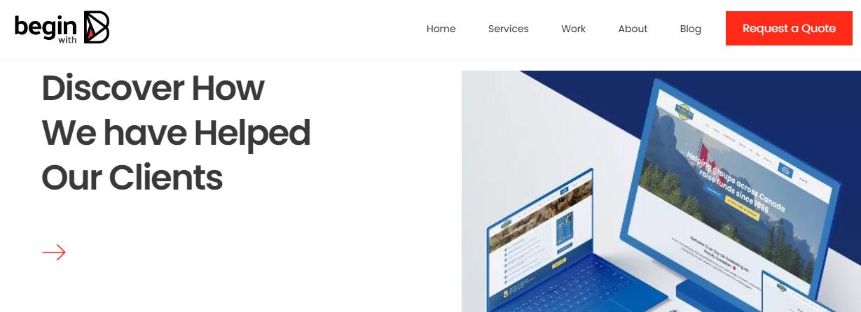 Begin with B Web Design