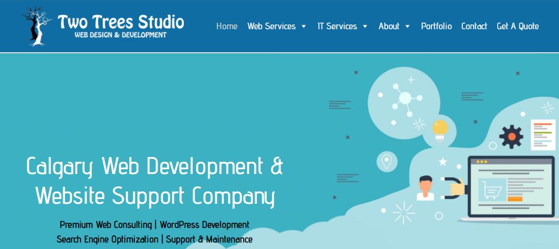 Two Trees Studio Web Design Calgary