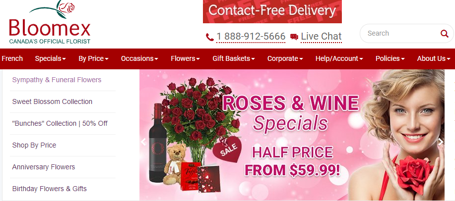 Bloomex Montreal Flowers & Gift Baskets