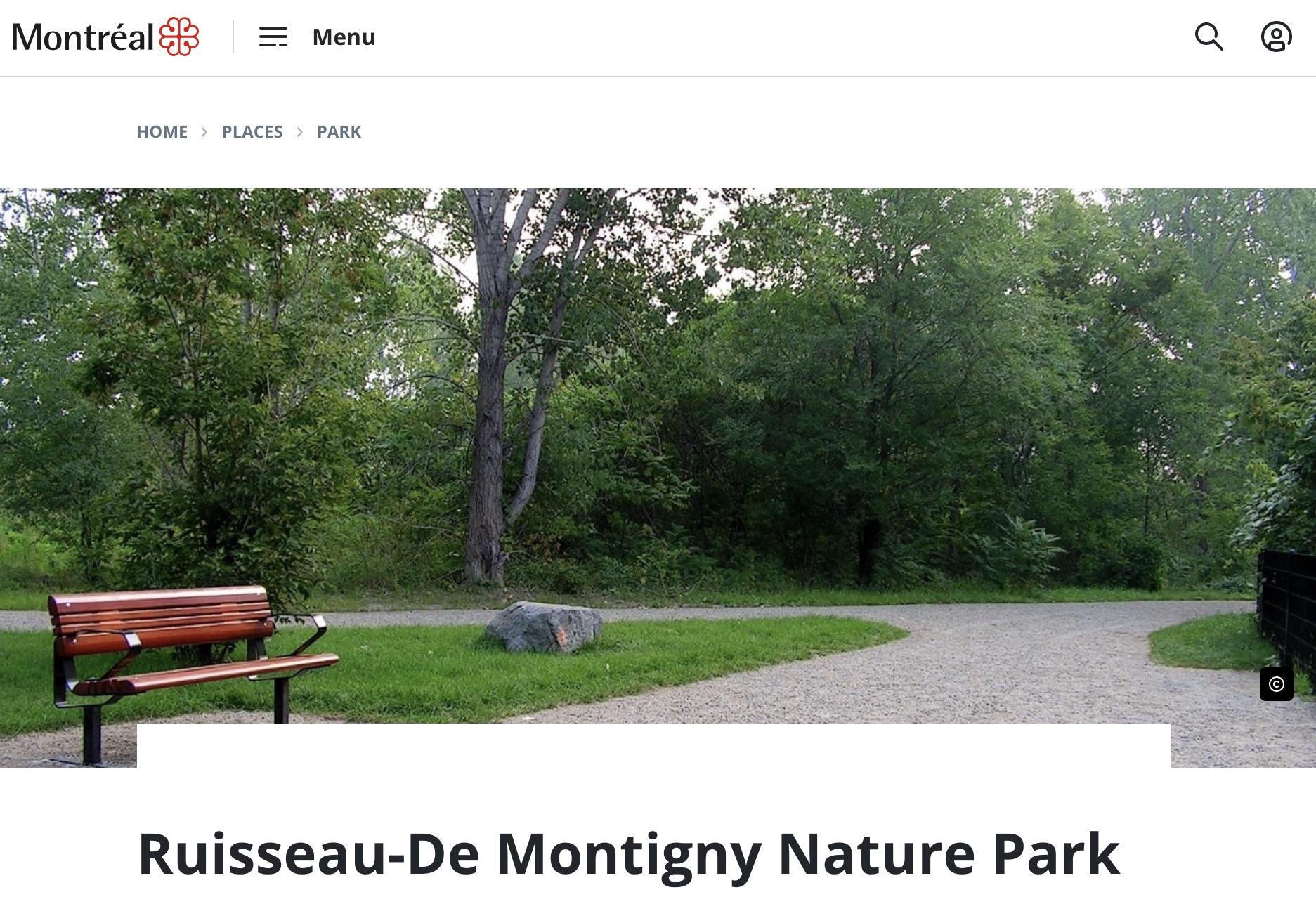 Ruisseau-De Montigny Nature Park